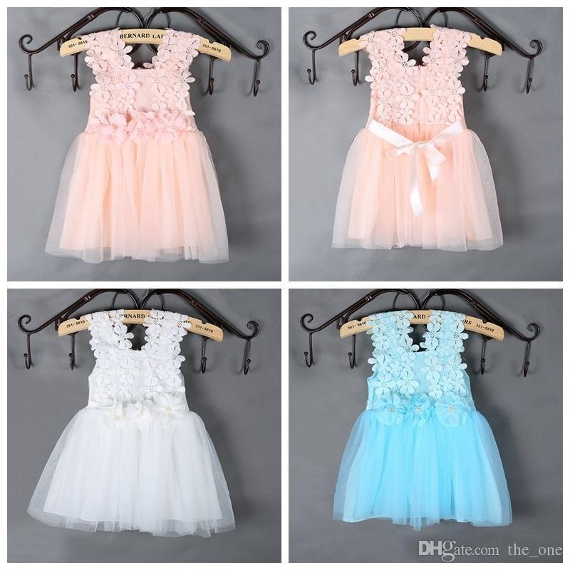 Großhandel Prettybaby Mädchen Schnüren Schönes Baby Kleid Häkeln