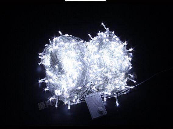 50M300LED lights flashing string lights holiday decorations waterproof outdoor Christmas lights wedding room wedding dress the stars