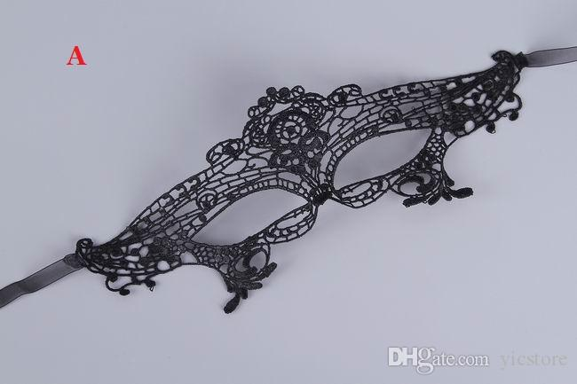 Lovely Lace Halloween Masquerade Venetian Party Half Face Mask Lily Woman Lady Sexy Mask For Christmas
