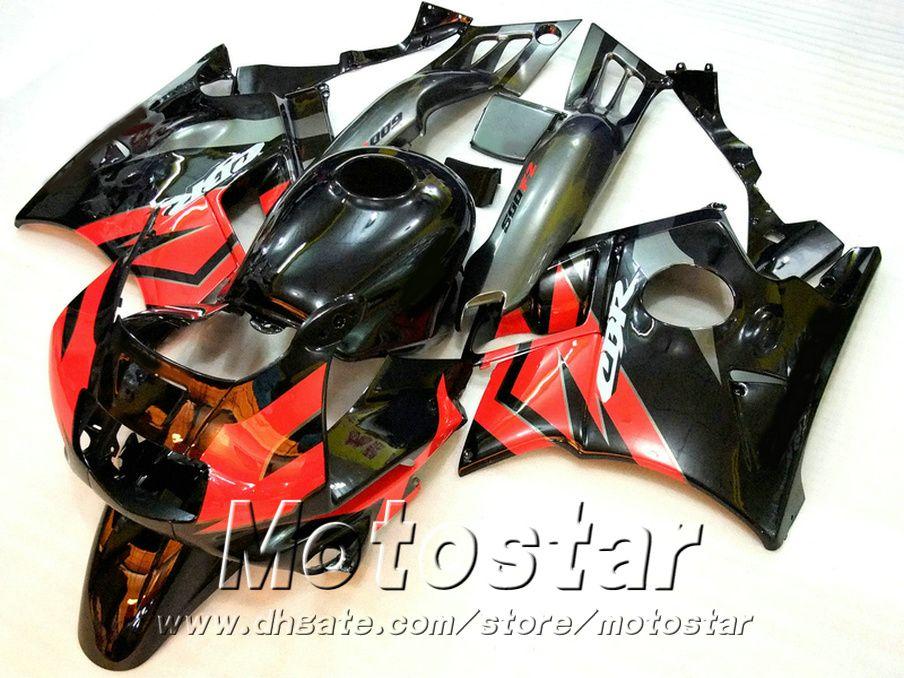 Free 7 regalos Kit de carenado para HONDA CBR 600 F2 1991 1992 1993 1994 Ferias negras rojas CBR600 91 - 94 MOTOBIKE RF12