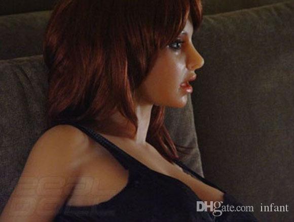 Oral Sex Doll DHL Darmowa Wysyłka Półstałe Lalki Męskie Nadmuchiwane Doll Sex Doll Dorosłych Sex Zabawki Solid Solid Silikon Lalki Lalki / Sex Lalki