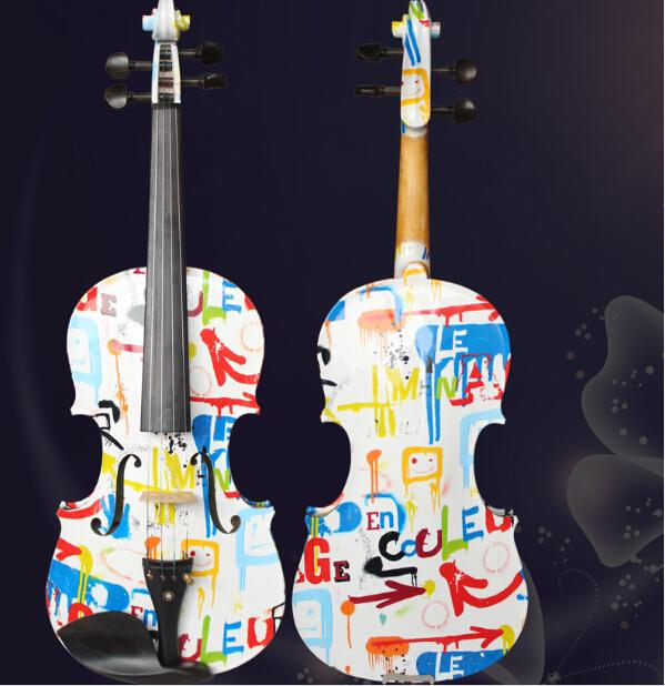 2018 New Arrival Colorful Painted Violins for student and beginner,A Very Fantastic Student Violin Instrument