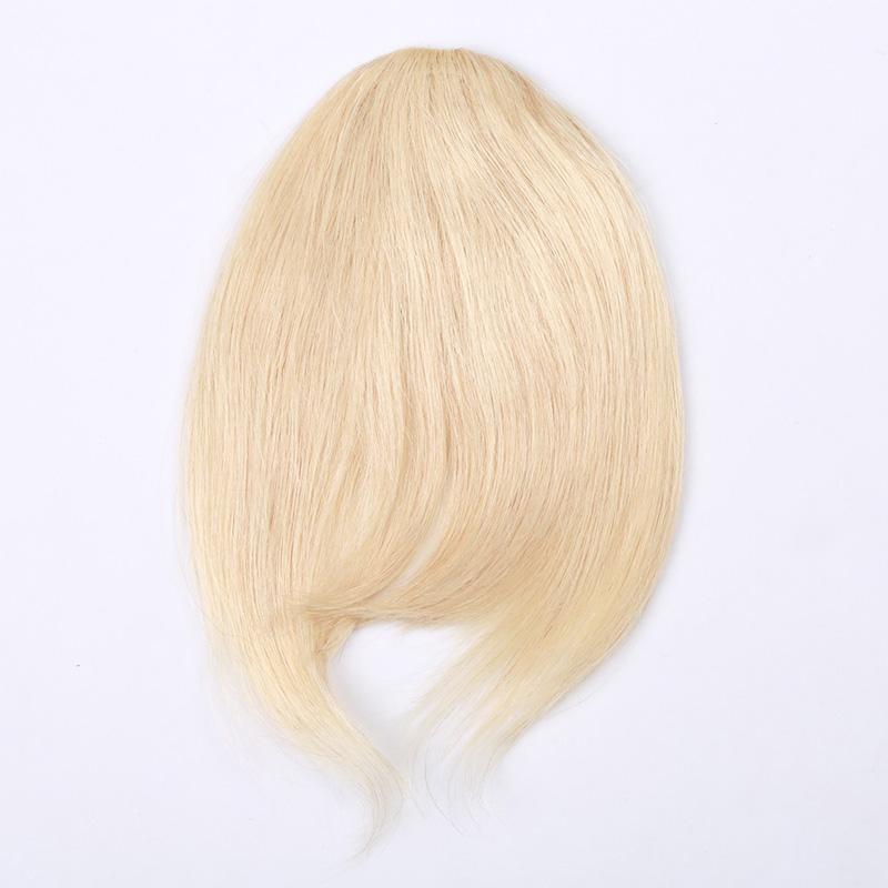 3 clip PCS 7 pollici Black Black Black Bulbe Color Combinazione Destensione dei capelli umani Fringe Capelli clip in facile applicazione dei capelli umani Bangs