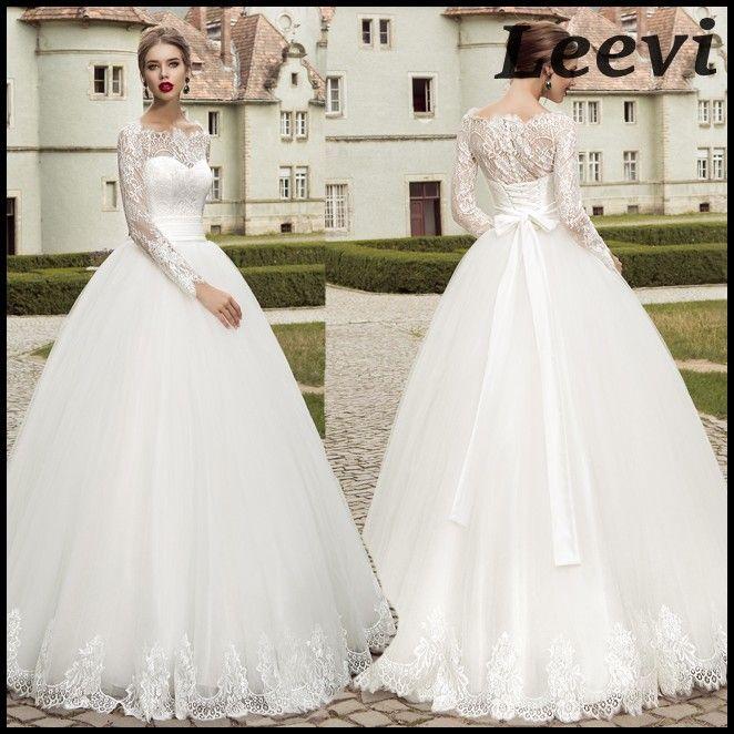 hochzeitskleid 2015 china sexy vintage long sleeve white lace ball gown pnina tornai wedding dress vestido de noiva manga longa princesa a ball gown wedding