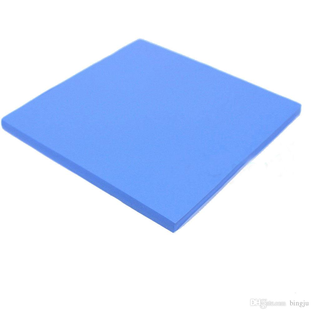 Wholesale-100mm * 100mm * 1.5mm 0.33ft Conductive Silicon Rubber Sheet Flame Retardant Thermal Pad