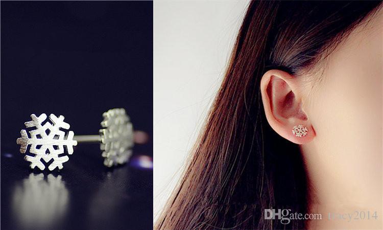 925 스털링 실버 스 터 드 귀걸이 사슴 눈 스타 양 단추 다이아몬드 아름 다운 보석 크라운 웨딩 귀걸이 공장 판매 최고의 선물