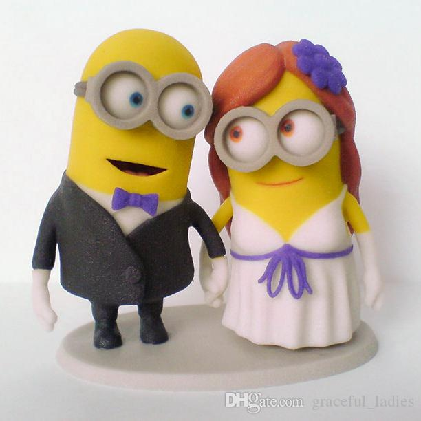 Funny Wedding Cake Toppers Custom Dispicable Me Minions Handmade