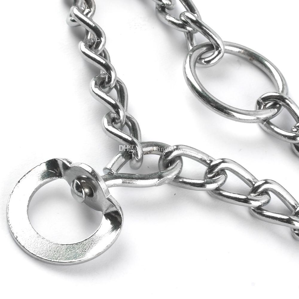Professional Metal Pinch Dog Training Chain Collar Prong Pet Choke Collars
