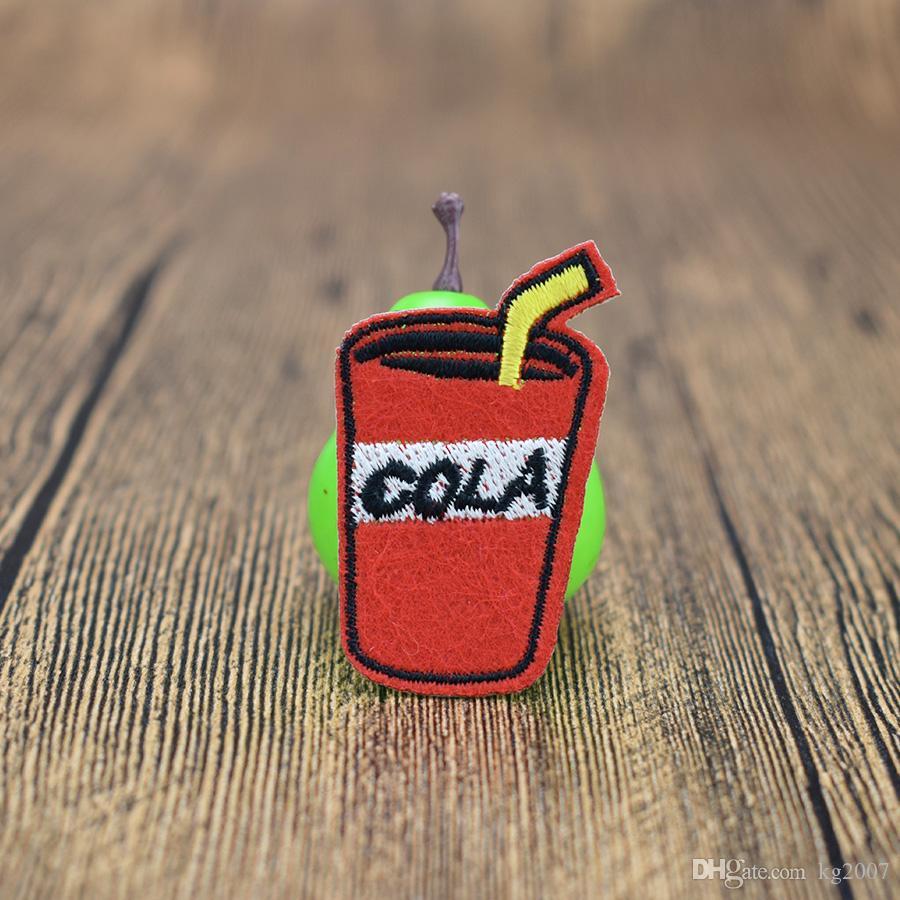 bebida de cola parches para la ropa Bolsas de hierro en apliques de transferencia de parches para la ropa de los pantalones vaqueros DIY Cosa en la divisa del bordado