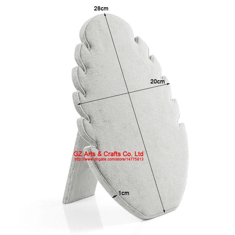 A Chama Forma Preto / Cinza Colar De Veludo Titular Pingente de Jóias Display Stand Rack de Armazenamento Rack de Prateleira