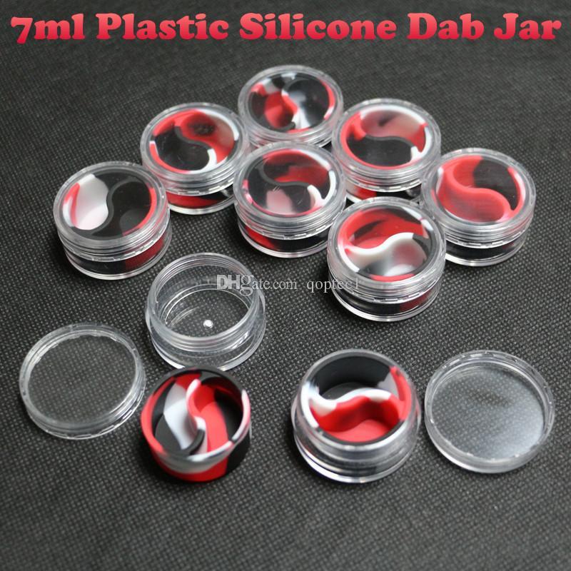 Neu geformter 7ml Acryl-Kunststoffbehälter für flotte Silikon-Konzentratbehälter mit kleinen Ölbehältern