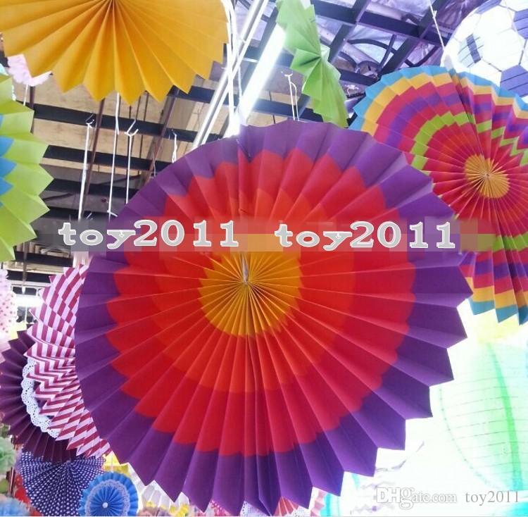 Fiesta Paper Fan Decorations =  Decorativo pieghevole di carta velina fan Fiore Craft Wedding Ghirlanda Modern Party Hanging Decoration