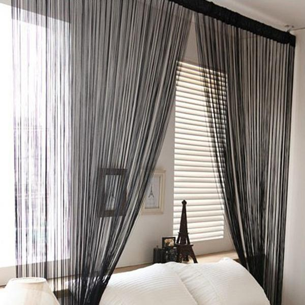 Door Windows Panel Curtainf For Living Room 2m X 1m Divider Yarn String  Curtain Strip Tassel Drape Decor Sheer Curtains Sheer Gray Curtains Curtains  And ...