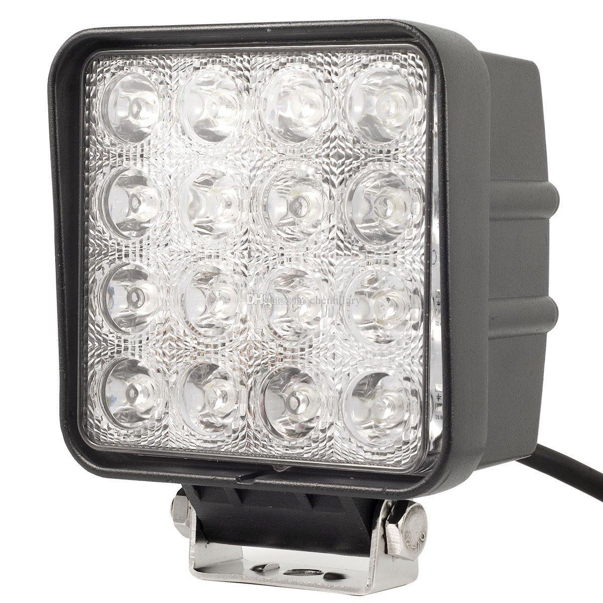 Promozione promozionale! Luce di lavoro da 4,5 pollici 48W LED luce di lavoro 12V 24V fascio LED Spot auto fuoristrada Luci di lavoro LED camion
