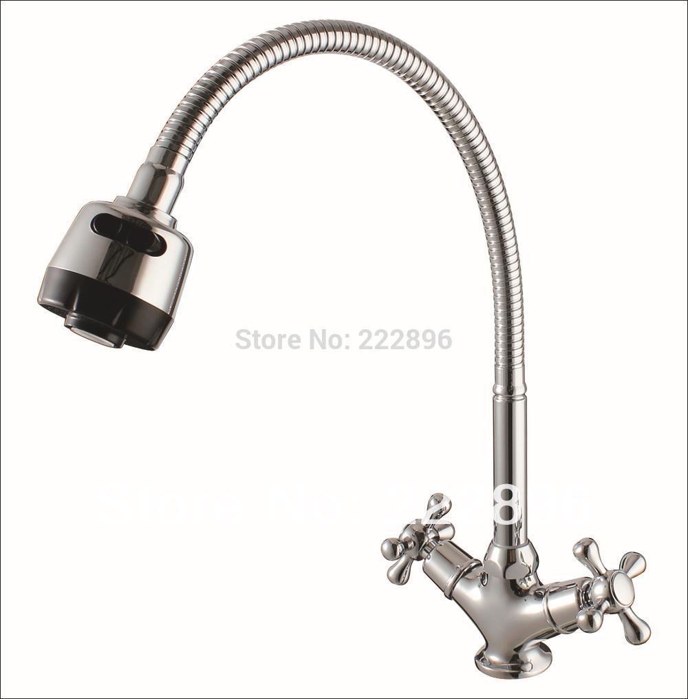 2018 2015newbrass Sink Flexible Pipe Kitchen Faucet Handles Kitchen ...