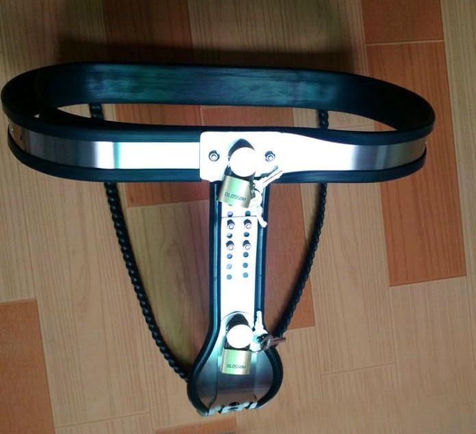 Y-vormige vrouwelijke kuisheidsgordel roestvrij staal kuisheidsapparaten kuisheidsbroek ondergoed bdsm bondage slaven speeltjes