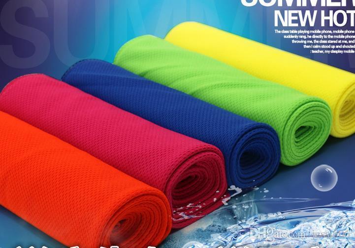 Prestazioni di raffreddamento Asciugamano sportivo all'aperto sciarpe sciarpa di ghiaccio freddo Pad collo cravatta wristband fascia estate spiaggia necessità forniture asciugamano regalo
