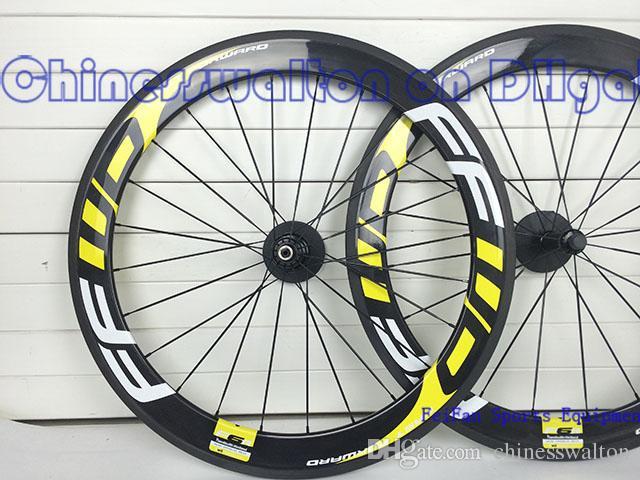 Basalt brake surface!!FFWD wheels F6R 60mm wheelset straight pull Powerway R36 carbon hubs full carbon road bicycle bike wheels fast forward