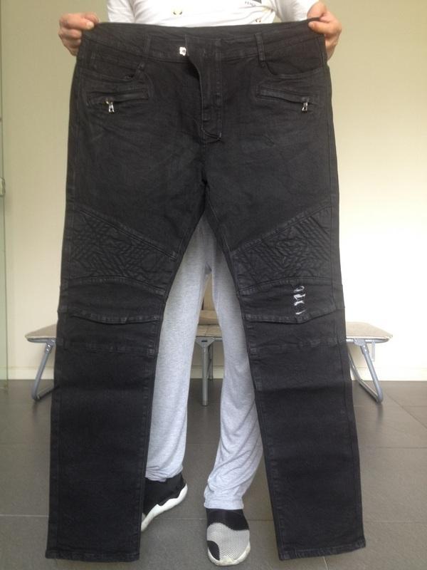 f66f29eb Balmain Denim Mid-Rise Slim Skinny Stretch Black Distressed Biker Jeans  Men's Size 38 Balmain Biker Jeans Balmain Denim Men Biker Jeans Online with  ...