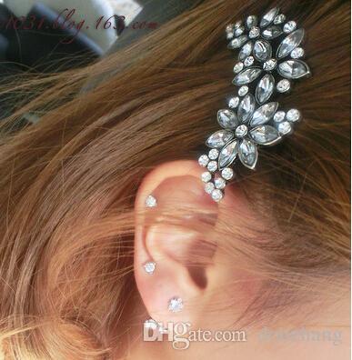 Fashion New European Style Clear Rhinestone Crystal Hair Clip Hair Accessory