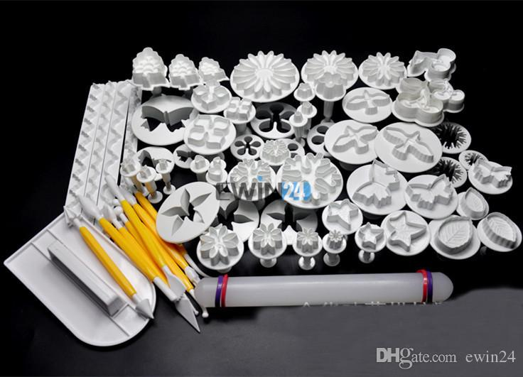 Торт инструменты 46 шт. Sugarcraft торт украшения фондант плунжерные резаки инструменты плесень печенье Печенье для Xmas партия