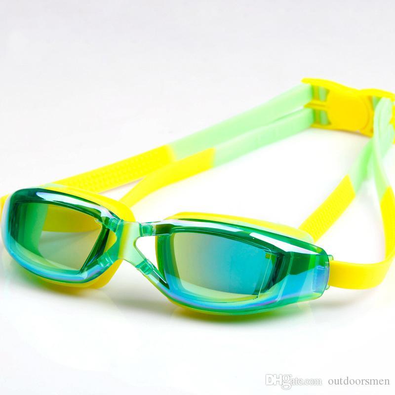 UV-Schutz wasserdicht Kinder Schwimmbrille Anti-Fog-Lichter Objektiv Silikonrahmen Kind Schwimmbrille Pool Zubehör Brille