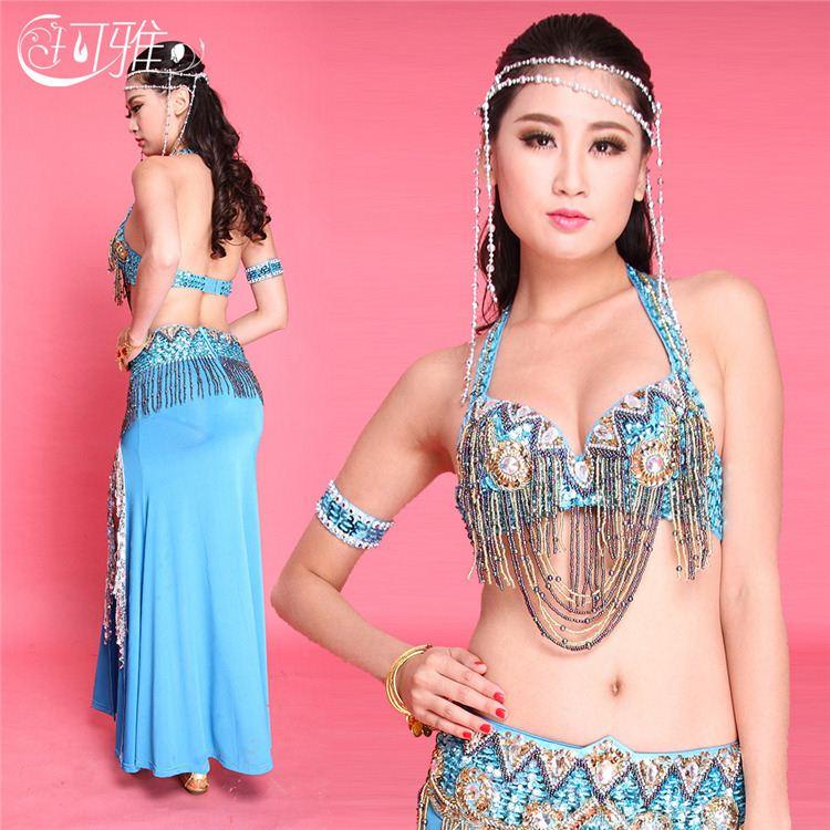 2018 New Arrival Arabic Beaded Oriental Dance Dress Sexy Egypt Skirt Belly Dance Costume For Women Stage Wear Top Quality From Chenwencai 57 29 Dhgate