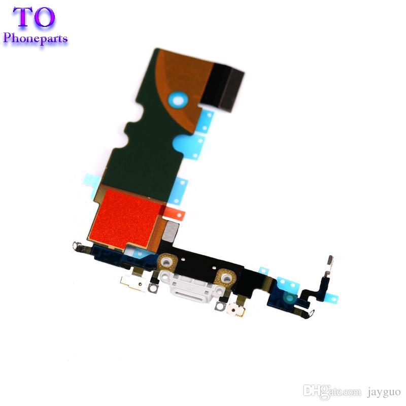 iPhone 8 8 Plus Nuova porta di ricarica Caricatore USB Connettore dock con cavo flessibile antenna microfono