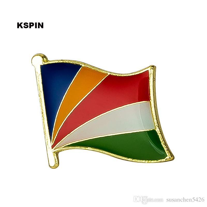 Trasporto libero il distintivo della bandiera del distintivo della bandiera del metallo della Sierra Leone KS-0153