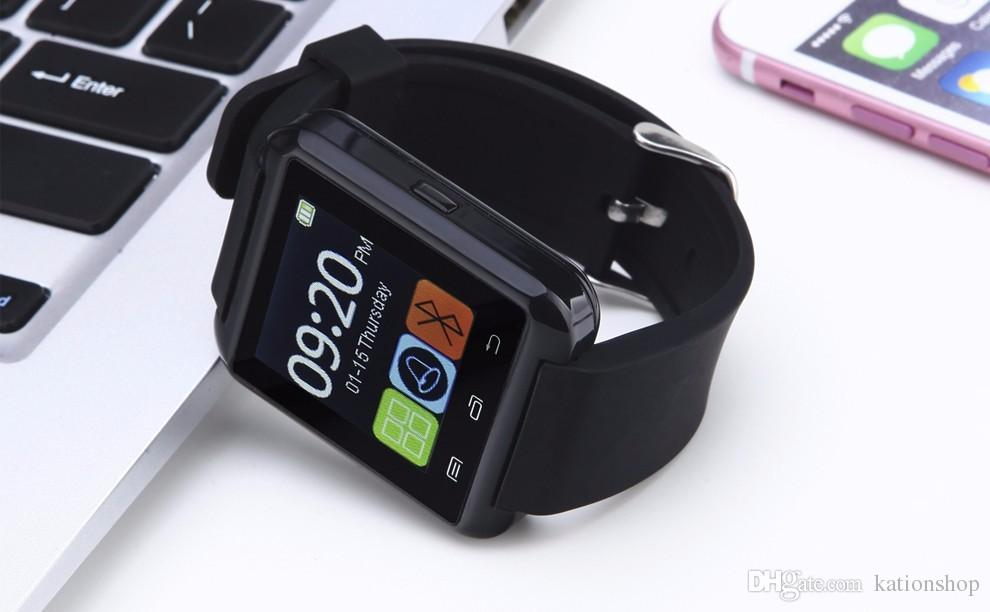 2017 Hot sale U8 Smartwatch Bluetooth Watch Drink Clock Passometer Touch Screen Answer and Dial the Phone with retail box iphone smart watch