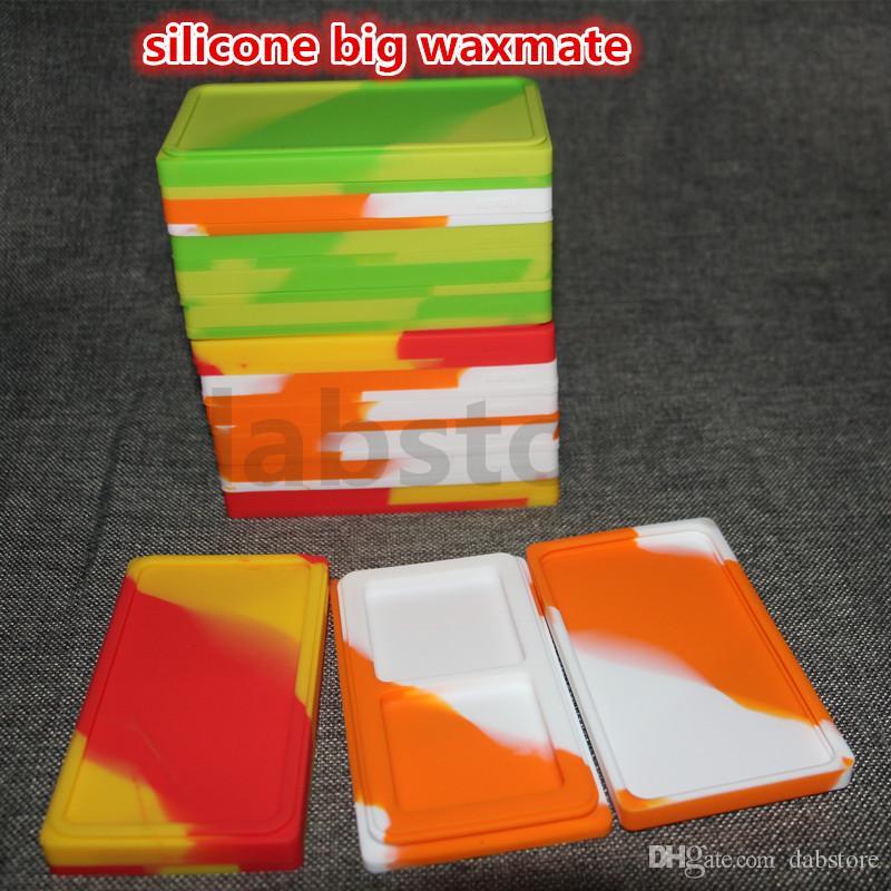 silikonöl waxmate behälter gläser tupfen großes wachsmate quadratischer behälter große lebensmittelqualität silikon trockenes kraut dabber box werkzeug kostenloser versand