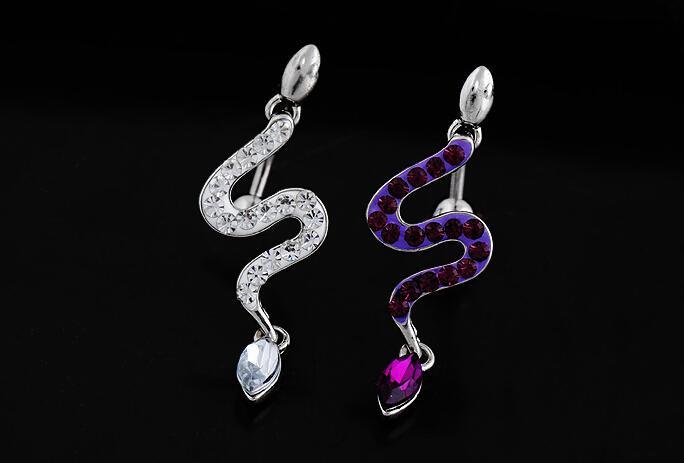 2016 limitati sexy monili del corpo del serpente piercing all'ombelico anelli ombelico percing pirring anello ouro bijoux pirsing nombril in vendita
