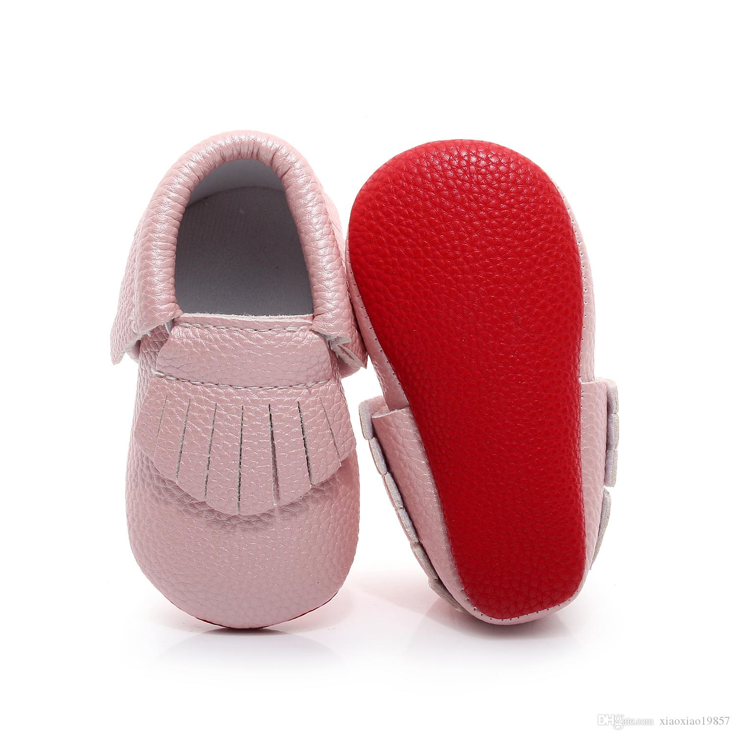 3312ffbc20f87 2019 2017 New Hot Sell Red Bottom Fringe Baby Moccasins Shoes First Walkers  PU Leather Newborn Infant Shoes For Boys Girls 0 2Y From Xiaoxiao19857