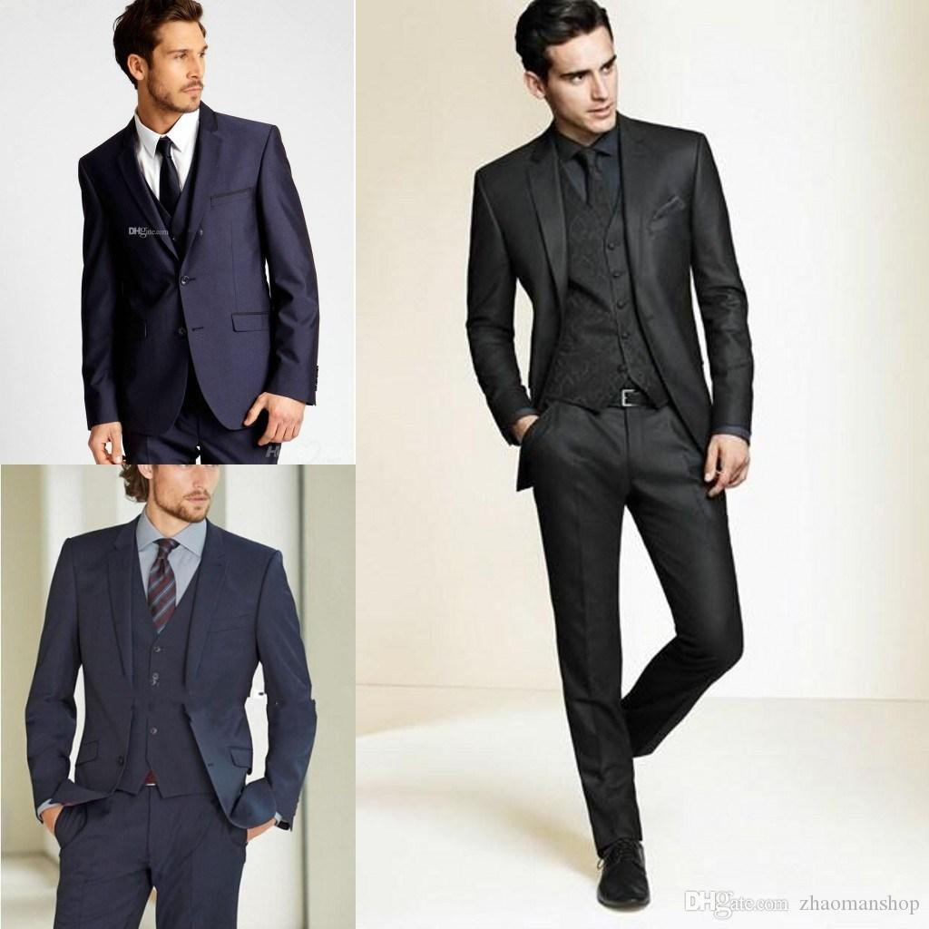 2015 New Formal Tuxedos Suits Men Wedding Suit Slim Fit Business ...