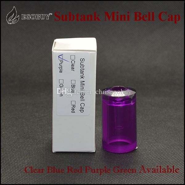 2015 Subtank Mini Bell Cap PMMA Replacement Caps Plane Tanks Partihandel för Kangertech Sub Tank Subtank Mini Kanger Subox Mini Sub Box Kit