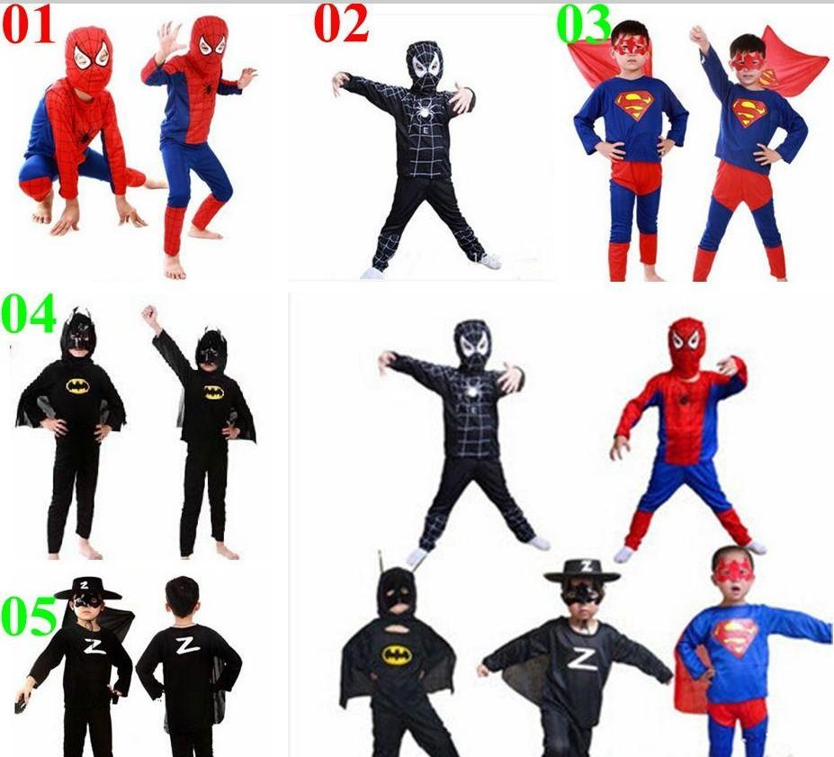 9847a519fad 2015 Spiderman Superman Batman Zorro Halloween Costume Suits Kits Kids BABY  Long Sleeve Superhero Costume Cosplay Set Boy Costume Halloween Halloween  ...