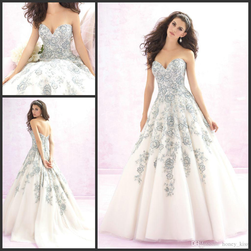 Discount 2015 Ballgown'S Ethereal Floral Embroidery Threaded ...