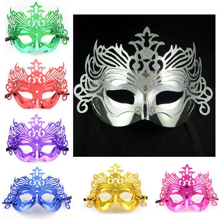 Makeup Masks upper Half face masquerade masks Crown Princess Mask for women Christmas Cosplay nightclub Banquet party Supplies 110008