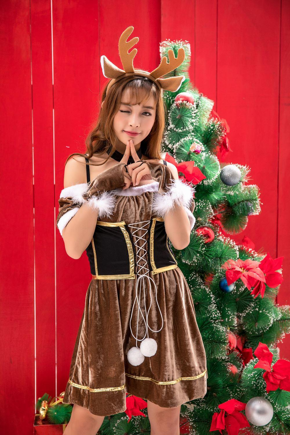 Christmas Clothing Adult Sexy Animal Sika Deer Reindeer Costume Dress Strapless Dress With Brown Halloween Costumes For Groups Of 6 Four Person Halloween ...  sc 1 st  DHgate.com & Christmas Clothing Adult Sexy Animal Sika Deer Reindeer Costume ...