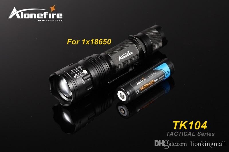 Alonefire TK104 L2 LED Tactical Gun Flashlight 2200LM 5 mode Pistol Handgun Torch Light Lamp Taschenlampe+gun scope mount+remote switch