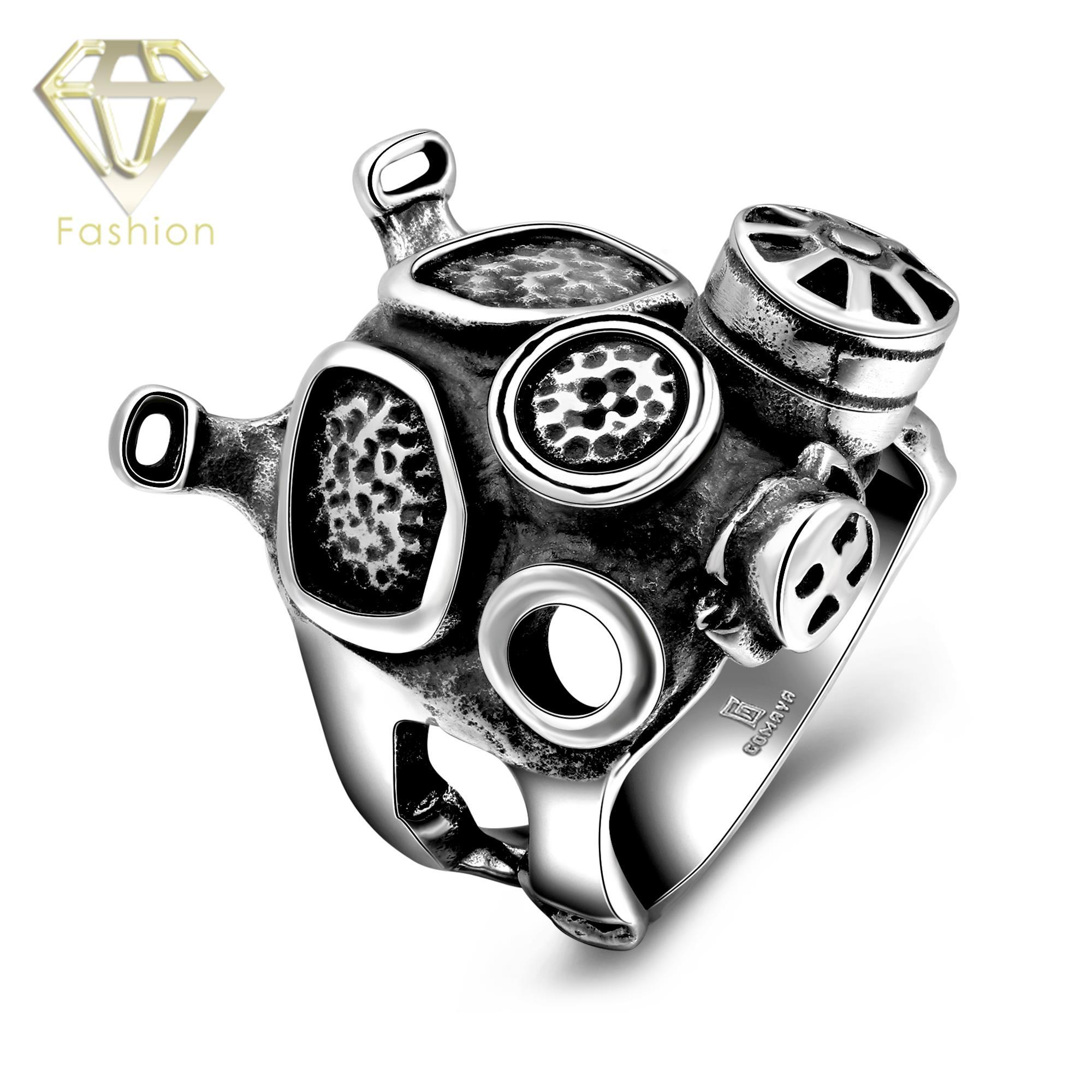 product from steel punk mask us vintage wholesale s design creative party weapons size rings rock jewelry stainless engagement skeleton men