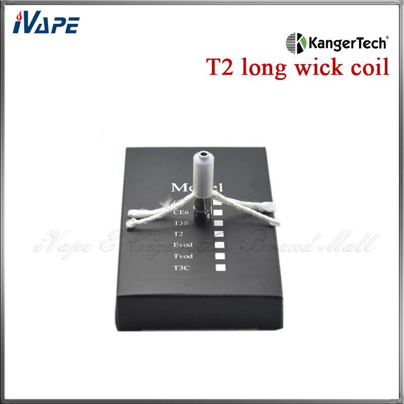 Cabezales de bobina Kanger T2 100% original Unidad de bobina cartomizadora KangerTech CC para T2 Clearomizer 1.5 1.8 2.2 2.5ohm disponible