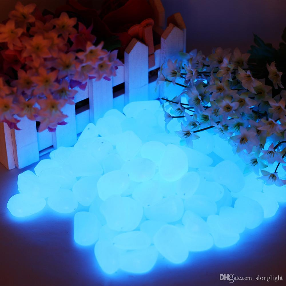 2018 100g luminous skyblue pebbles stones glow in the dark decoration garden ornaments fluorescent stones cobbles from slonglight 503 dhgatecom - Glow In The Dark Garden Pebbles