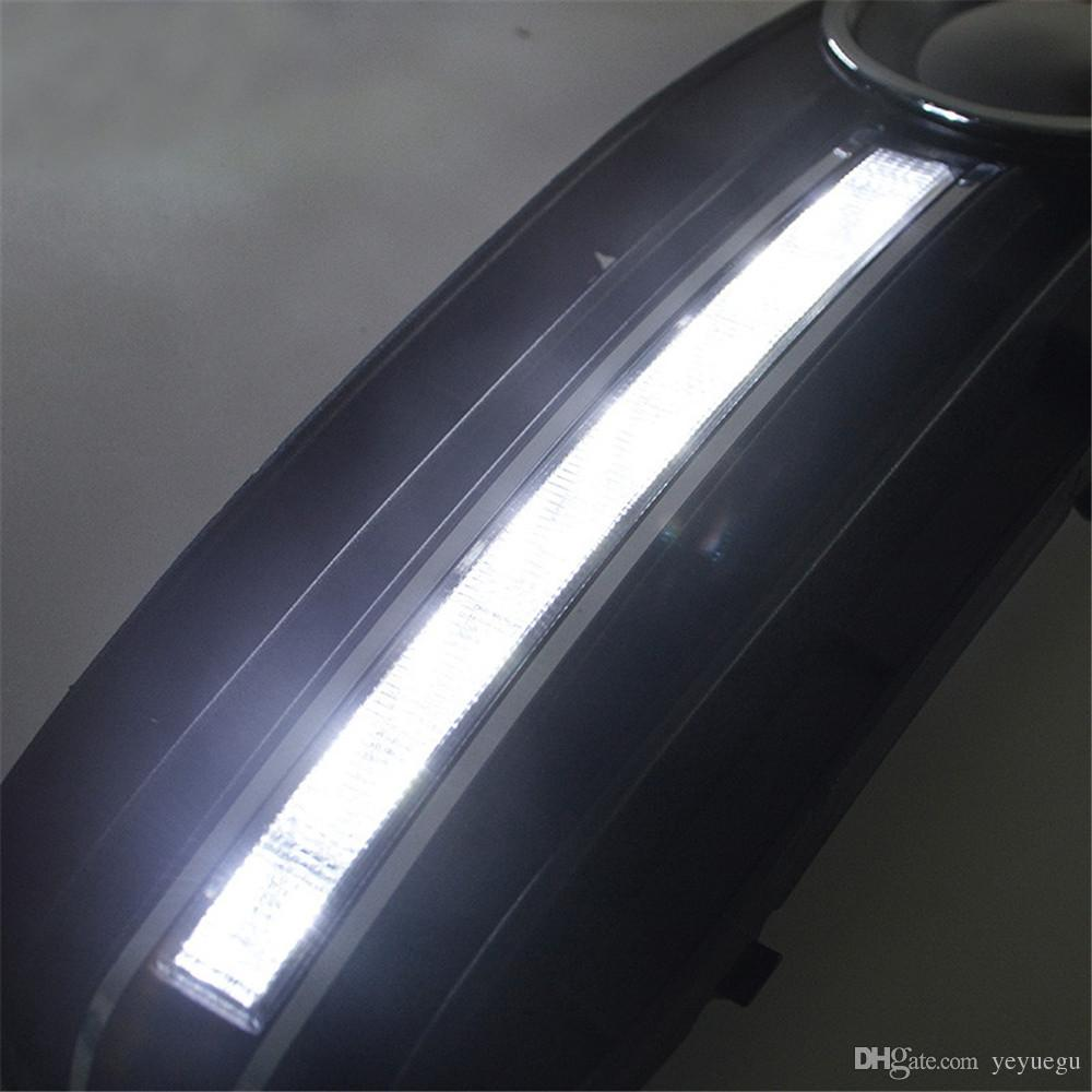 For Audi A4 B8 2009 2010 2011 2012 Auto Car Daytime Running Light With Head LED DRL replace Fog Lamp Cover