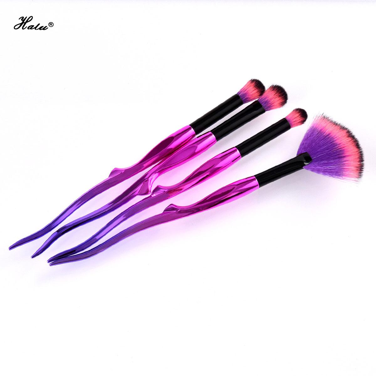 Halu Mermaid Eyeshadow Pinceaux De Maquillage Ensemble Violet Sirène Yaksha Concealer Nez Fan Cosmétique Brosses Ensembles Kits