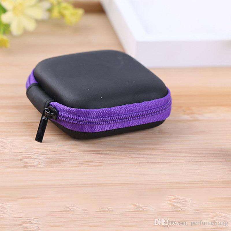 Square Storage Bag Case For Earphone EVA Headphone Case Container Cable Earbuds Storage Box Pouch Bag ZA5350