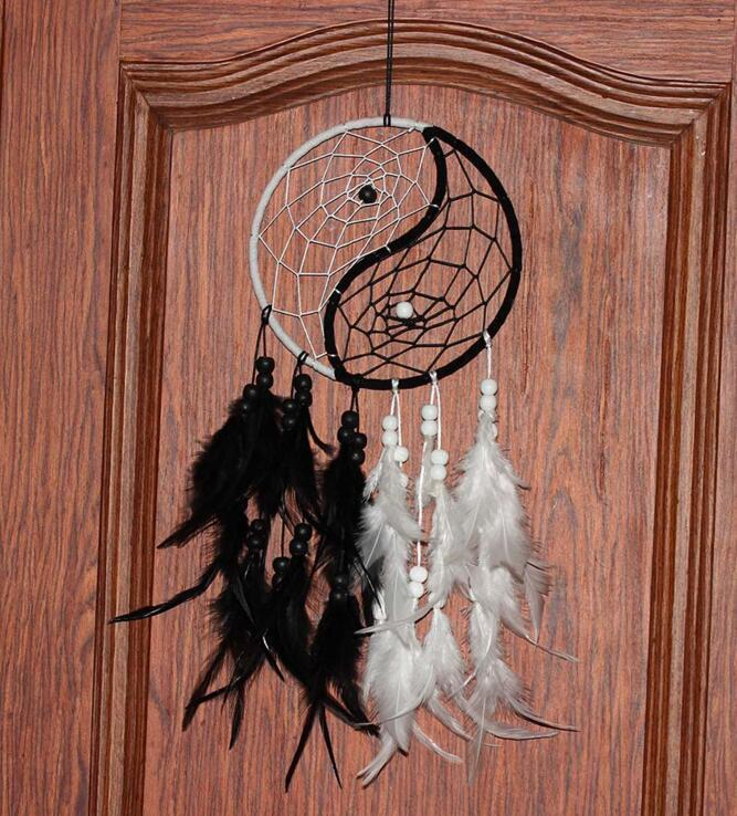 Dream Catcher Antique Imitación Enchanted Forest Dreamcatcher Hecho a mano Dream Catcher Net Con plumas Colgantes de pared Decoración Adorno