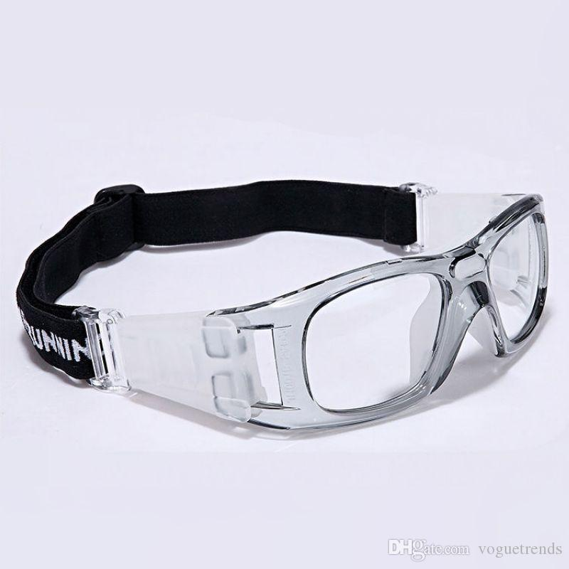Wrap Around Basketball Sport Goggles For Men Clear PC Lens Eye ...
