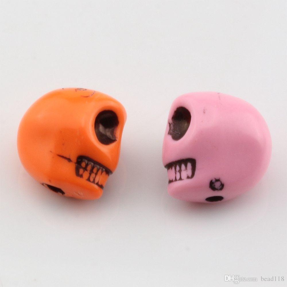 Chaud! mix couleur acrylique crâne spacer perles 12mm ajustement bracelet perles bricolage bijoux