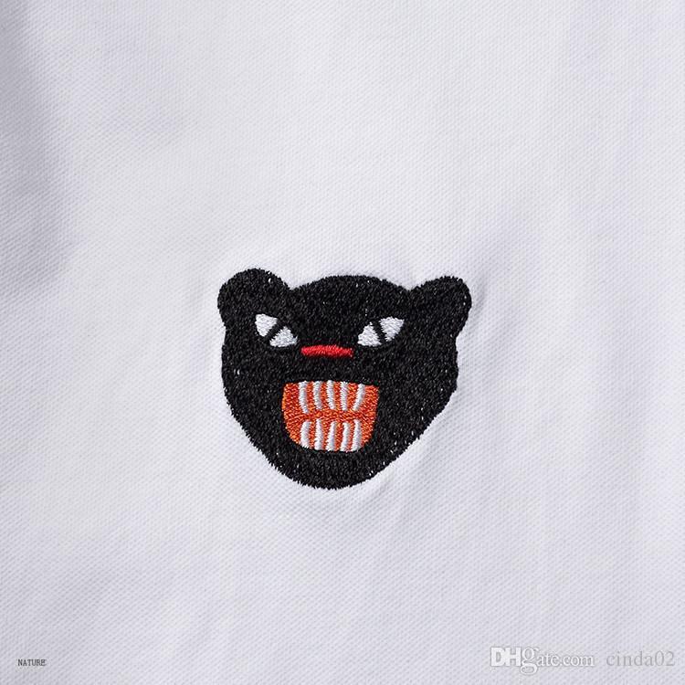 New Hot Italy Shirt T-shirt High Street Embroidery T shirts For Men Embroidered shirt Shirt Men